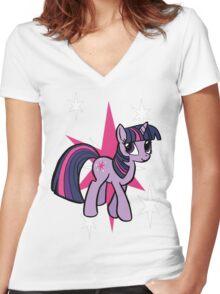 twilight sparkle Women's Fitted V-Neck T-Shirt