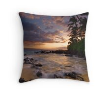 Makena peach rift Throw Pillow