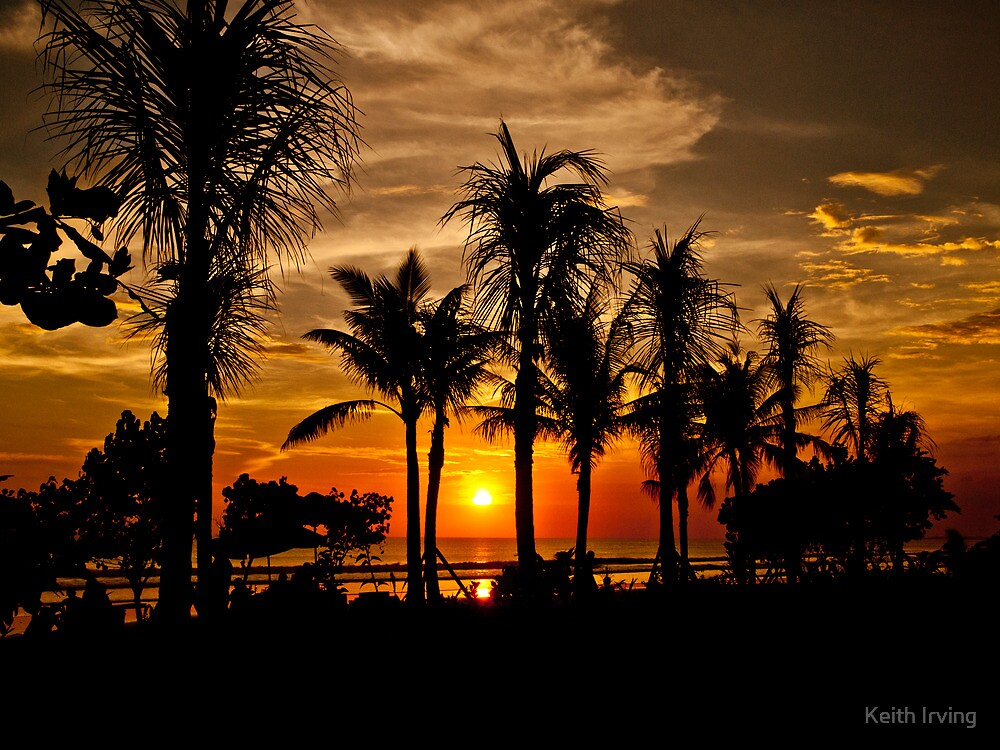 Bali Sunset. by Keith Irving