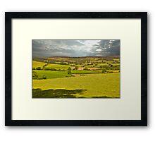 somerset landscape Framed Print