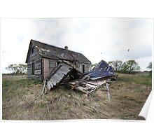 Blue Prairie Farmhouse  Poster
