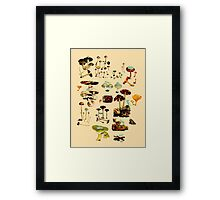 CATS + SPACESHROOMS Framed Print