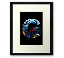 G is for grover Framed Print