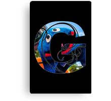 G is for grover Canvas Print