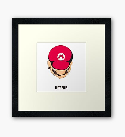 A gamer never die Framed Print