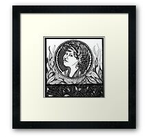 Redbubble Portrait of Alexandra Felgate Framed Print