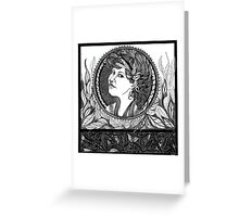 Redbubble Portrait of Alexandra Felgate Greeting Card