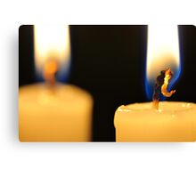Candle Light Dinner For Two Canvas Print
