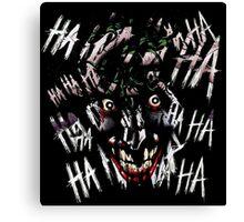Joker - HAHAHAHAHA Canvas Print