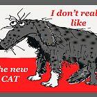 """""""I don't really like the new cat"""", sad dog by Mary Taylor"""