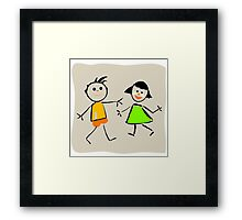 Beautiful kids Framed Print