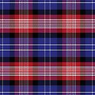 Blue and red Scottish plaid tartan by Tee Brain Creative
