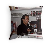 Happy Barrista Throw Pillow