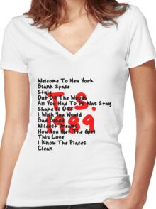 1989 Women's Fitted V-Neck T-Shirt