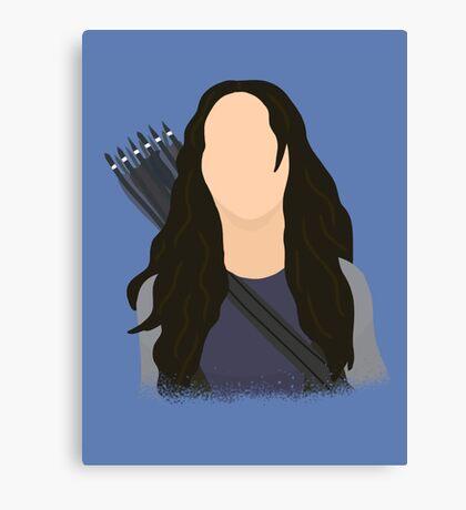 Vector Katniss Canvas Print