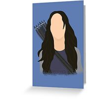 Vector Katniss Greeting Card