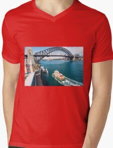 From the top of the Ferris wheel Mens V-Neck T-Shirt