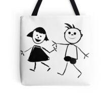 Beautiful kids silhouettes Tote Bag