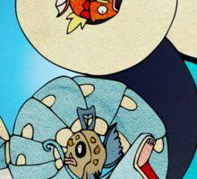 Paint-Splattered Aquatic Yin Yang - Milotic & Gyarados Sticker