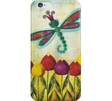 Dragonfly & Tulips iPhone Case/Skin