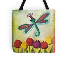 Dragonfly & Tulips Tote Bag