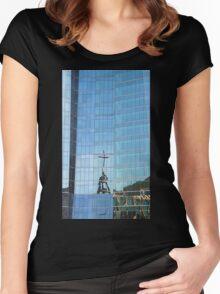 Streetscape Reflections (3), Rio de Janeiro, Brazil.  Women's Fitted Scoop T-Shirt