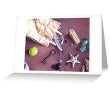 """Bag of treasures"" - close-up detail Greeting Card"