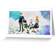Hunter x Hunter Protagonists Greeting Card