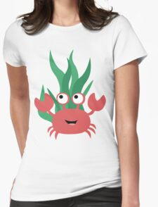 Cartoon Crab Womens Fitted T-Shirt