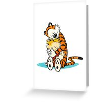 Calvin And Hobbes Embraced Greeting Card