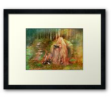 To Spin a Tale Framed Print