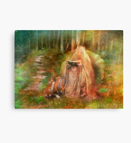 To Spin a Tale Canvas Print