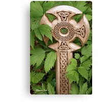 A Celtic Cross for St Patrick's Day Canvas Print