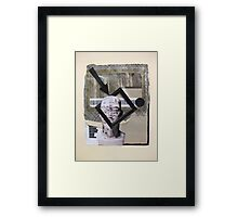Boxes, barcode and brains...graphic frame of mind Framed Print