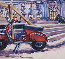 The Red Vespa by Elizabeth Moore Golding