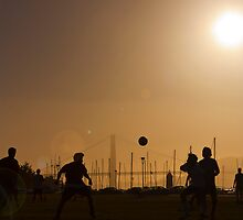 World Cup Fever at the Golden Gate by Jun Song