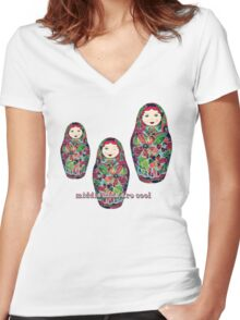 Middle Kids Are Cool Women's Fitted V-Neck T-Shirt