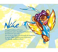 Chibi Nike - Greek Gods, Blue Series Photographic Print