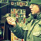 Homeless Man & Bird by taylorleigh