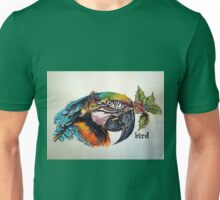 Christmas bird. Elizabeth Moore Golding© Unisex T-Shirt