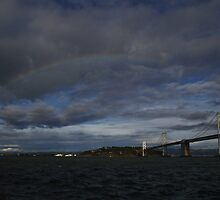 rainbow over the Bay by fototaker