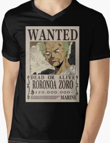 Roronoa Zoro Wanted Poster Mens V-Neck T-Shirt