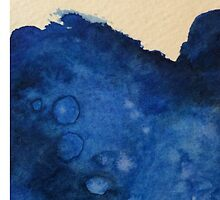 Blue Splashes Watercolor by Lifeincruise