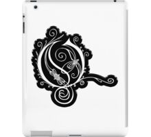 LATTICE LETTER O - black metal solid sticker iPad Case/Skin