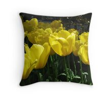 Yellow tulips! Throw Pillow