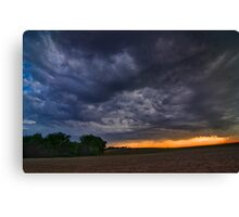 End of a Supercell Storm Canvas Print