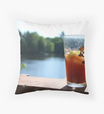 Perfect Saturday Morning Bloody Mary Throw Pillow