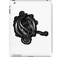 LATTICE LETTER O - black metal metal sticker iPad Case/Skin