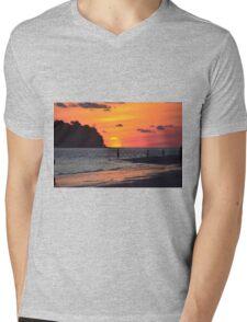 Sunset @ Pantai Cenang, Langkawi Mens V-Neck T-Shirt