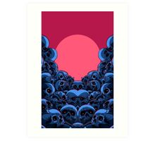 skull stack colour Art Print